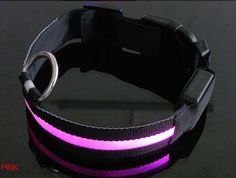 LED Dog Collar LED Pet Collar Flashing Lights 6 Colors Pink Small * Click image for more details.Note:It is affiliate link to Amazon.