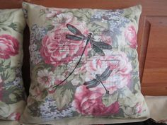Pink Peonies Shabby Cottage Chic 16 Inch Pillow Cover  by vertzvkv, $24.00