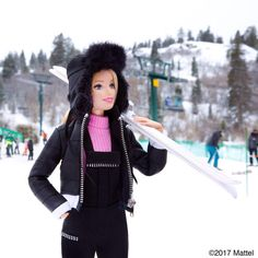 Suited up in style! Hitting the slopes at @deervalleyresort!  #sundance #barbie #barbiestyle