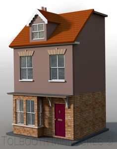 Jubilee Single Dolls House 1:12 Scale - Unpainted Dolls House Kit #DHW…