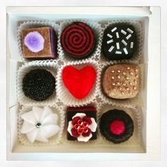 Valentine's Day Chocolates Felt Chocolate by FeltLikeSweets