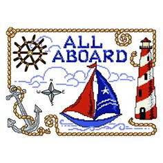 All Aboard Nautical - cross stitch pattern designed by Ursula Michael. Category: Water.