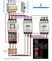 Esquemas eléctricos: Arranque estrella triangulo manual