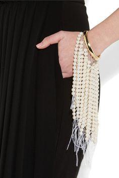 Maison Martin Margiela Faux Pearl Bracelet in White (neutrals) - Lyst