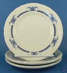 3-Shenango-Anchor-Hocking-Restaurant-Salad-Plates-Blue
