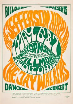 Jefferson Airplane/Jay Walkers, May 6 & 7, 1966 - Fillmore Auditorium (San Francisco, CA) Art by Wes Wilson