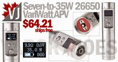 Seven-to-35W 26650 Variable Wattage APV