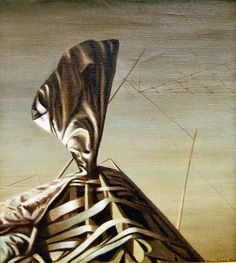 The Morning Myth by Kay Sage, 1950. Oil on canvas.