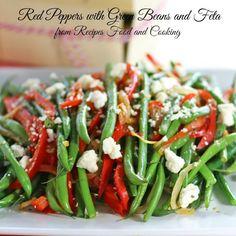 Red Peppers with Green Beans and Feta - Recipes Food and Cooking