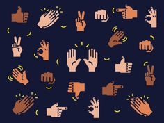 hand gestures  more hand gesture inspiration to re-create in the site care illustration style