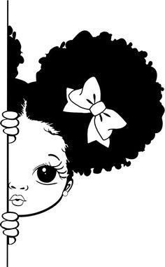 Black Girl Cartoon, Black Girl Art, Black Women Art, Black Art, Black Girl Magic, Art Girl, Free Black Girls, Image Svg, Paint And Sip
