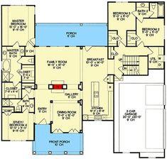 See-Through Fireplace - 4092DB floor plan - Main Level