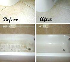 Reinigen Sie die Fugen im Badezimmer