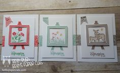 display stamper samples with the new painter's pallet stamp set