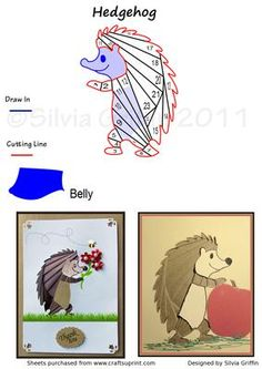 Hedgehog Bringin flowers IS on Craftsuprint designed by Silvia Griffin - Cute little fellow great for all kind of occasions. Birthday- give him a package to bring, or Mothers day - with flowers -same if you need a get well card.  - Now available for download!