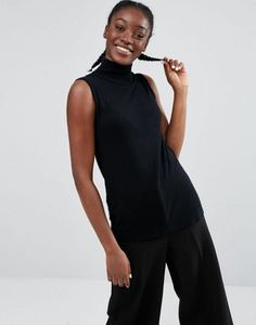 Monki High Neck Low Arm Tank
