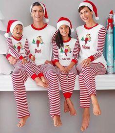 family matching christmas pajamas set women baby kids deer sleepwear nightwears