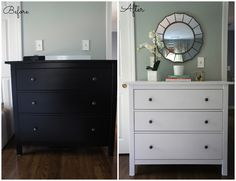 Painting An Espresso Hemnes Dresser White Home With Baxter Ikea Guest Bedroom Update