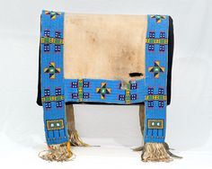 lakota quillwork | Saddle Blanket, Lakota, Beaded Native American Beading, Native American Tribes, Native Americans, Saddle Blanket, Navajo Rugs, Horse Gear, Bead Jewelry, Leather Pouch, Hama Beads