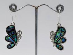 Nacre butterfly earrings, mother pearl earrings, Romantic jewelry, Bohemian earrings, Gifts for her by wikandah on Etsy