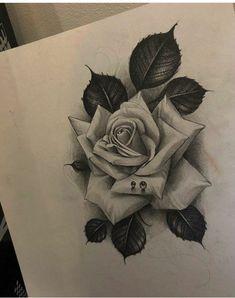 New Tattoo Dog Realistic How To Draw 29 Ideas Dog Tattoos, Body Art Tattoos, Hand Tattoos, Small Tattoos, Rose Drawing Tattoo, Realistic Rose Tattoo, Floral Tattoo Design, Flower Tattoo Designs, Black And Grey Rose Tattoo