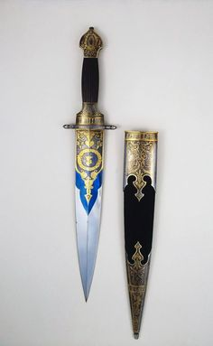 Sapphire Daggers – Gülcan Rizeli – Join the world of pin Pretty Knives, Cool Knives, Swords And Daggers, Knives And Swords, Armas Ninja, Dagger Knife, Knife Art, Arm Armor, Fantasy Weapons