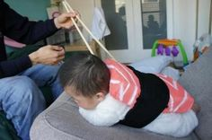 This could be an adorable way to make a swaddle.