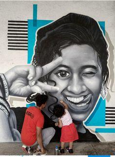 Graffiti, Dream City, My Sister, Mumbai, Sisters, India, Portrait, Tattoos, Artist