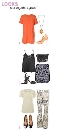 Looks para um jantar especial. #moda #look #outfit #jantar #ideias #lnl #looknowlook