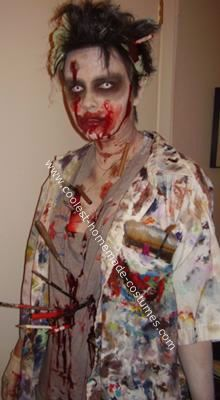 Homemade Art Student Zombie Costume Ideas: This costume is what happens when a Fine Arts student falls in an inspiration crisis...