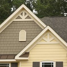 With James Hardie siding you have the ability to mix and match your favorite colors and styles - like this combination of shake and lap siding.
