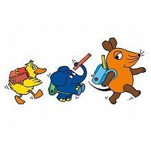 Alenio - Kinder Wandtattoo Sendung mit der Maus, Schulweg