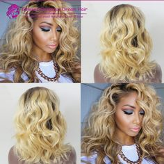 #4/613 Bob Wavy Blonde Full Lace Ombre Wig Peruvian Glueless Front Lace Wigs Ombre Wavy On Sale DHL Shipping //Price: $US $118.90 & FREE Shipping //   http://humanhairemporium.com/products/4613-bob-wavy-blonde-full-lace-ombre-wig-peruvian-glueless-front-lace-wigs-ombre-wavy-on-sale-dhl-shipping/  #cheap_hair