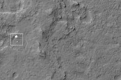 Curiosity tijdens de afdaling gespot door collega Mars Reconnaissance Orbiter  meester Henk - REIS door de RUIMTE :: meesterhenksuniversum.yurls.net