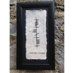 Ogham Ancient Irish Writing