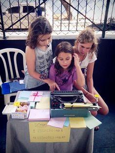 crianças conhecem minha máquina de escrever [sambazar, 2014]