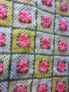 Ravelry: Rose Trellis Afghan - free pattern by Caron International Yarns - this pretty version by CoyoteNerdy