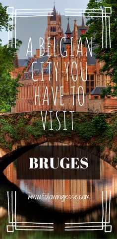 Bruges is a small charming city in northern Belgium. You won't regret a visit to this beautiful city!
