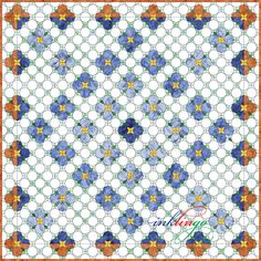Inklingo Periwinkle Quilt (IPQ) - Use the EQ project file or the worksheets in the lesson to make the quilt larger or smaller.