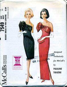 Vintage McCalls  Pauline Trigere Cocktail Dress