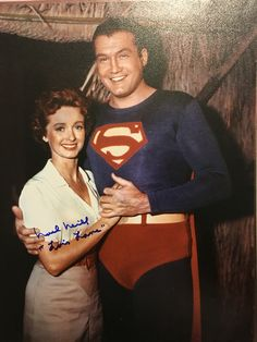 Noel Neill as Lois Lane, George Reeves as Superman. Classic Tv, Classic Films, Dc Movies, Movie Tv, Superman Comic, Batman, George Reeves, Fictional Heroes, Adventures Of Superman
