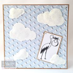 """6""""x6"""" Card Using the """"Little Angel"""" Sara Davies Signature Collection dies Designed by Kim Wilkin #crafterscompanion"""