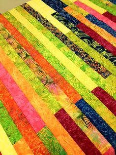 "Another one of those ""lasagna"" or ""potato chip"" or ""spaghetti"" or ""jelly roll"" quilts comes to life. What do you call them?  www.hughsbooks.ca"