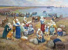 Acadian Nova Scotia Timeline   Ships Take Acadians Into Exile, by Claude T. Picard