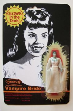 Custom made Vampire Bride Remco Mini Monster 3 3/4 Vintage Style Figure MOC #MISC