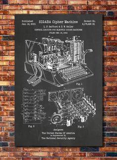 WW2 Encryption Machine Patent by CatkumaPatentPress on Etsy