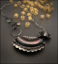 Necklace | Victoria Takahashi.  Copper and sterling silver.
