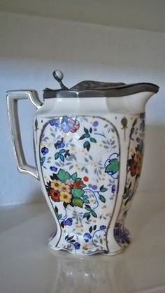 Anyone for tea ?  Vintage Ceramic Coffee Pot English Ceramic by thevintagearcade, $36.00