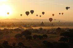 Balloons over Bagan by Sebastian Weiss   Arts