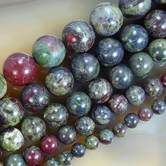Natural BloodStone Round Beads Pick Size 6,8,10,12,14mm